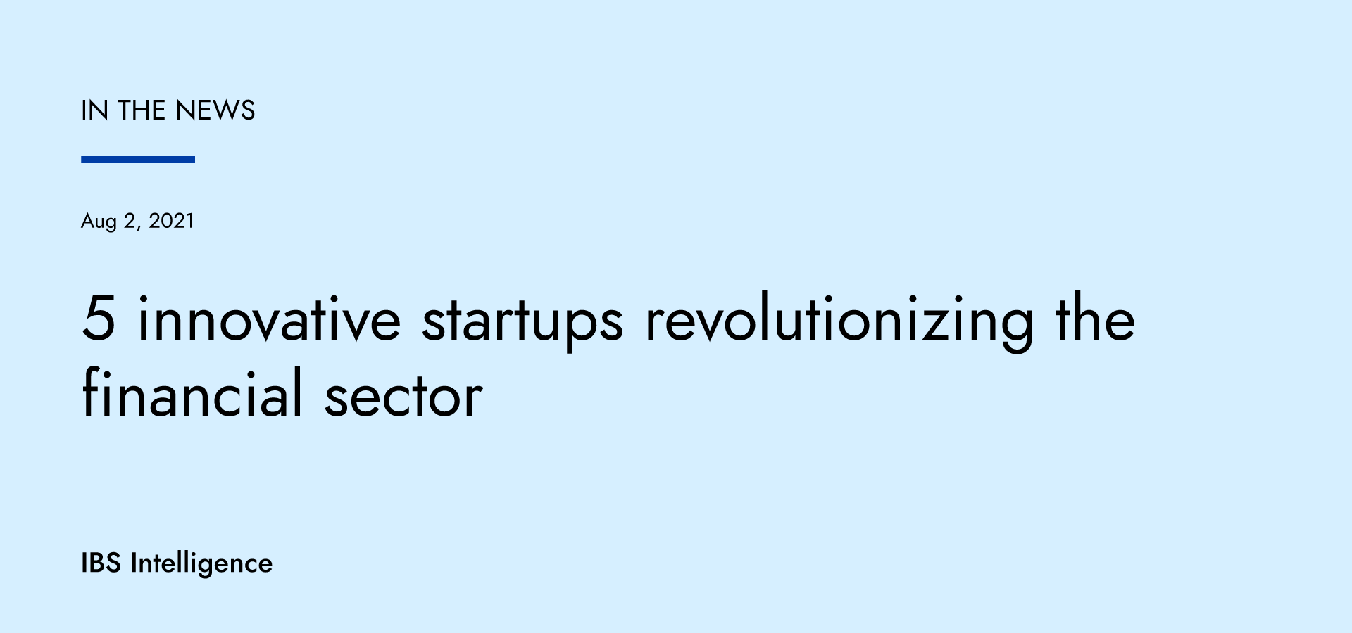 5 innovative startups revolutionizing the financial sector